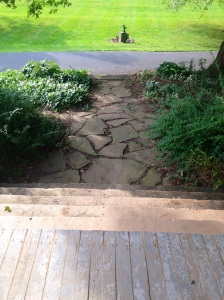 Possibility: Redo front steps and front walkway.